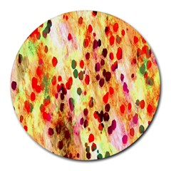 Background Color Pattern Abstract Round Mousepads