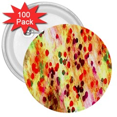 Background Color Pattern Abstract 3  Buttons (100 Pack)