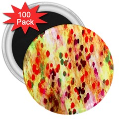Background Color Pattern Abstract 3  Magnets (100 pack)