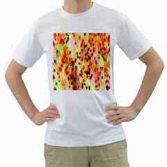 Background Color Pattern Abstract Men s T-Shirt (White) (Two Sided)