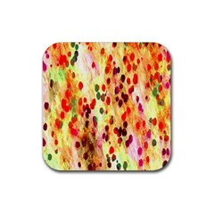 Background Color Pattern Abstract Rubber Coaster (Square)