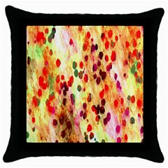 Background Color Pattern Abstract Throw Pillow Case (Black)