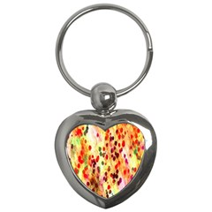 Background Color Pattern Abstract Key Chains (Heart)