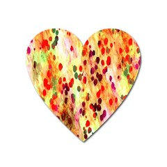 Background Color Pattern Abstract Heart Magnet
