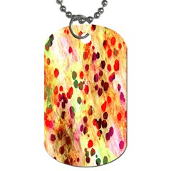 Background Color Pattern Abstract Dog Tag (One Side)