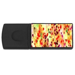 Background Color Pattern Abstract USB Flash Drive Rectangular (1 GB)