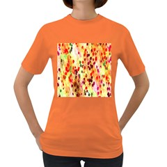 Background Color Pattern Abstract Women s Dark T-Shirt