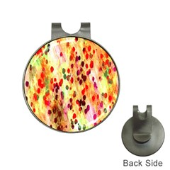 Background Color Pattern Abstract Hat Clips With Golf Markers