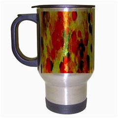 Background Color Pattern Abstract Travel Mug (silver Gray)