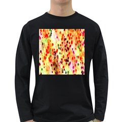 Background Color Pattern Abstract Long Sleeve Dark T-Shirts