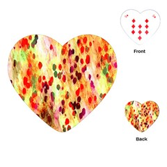 Background Color Pattern Abstract Playing Cards (heart)