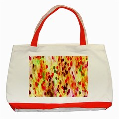Background Color Pattern Abstract Classic Tote Bag (Red)