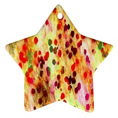Background Color Pattern Abstract Star Ornament (Two Sides)