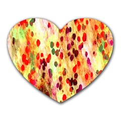 Background Color Pattern Abstract Heart Mousepads