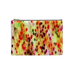 Background Color Pattern Abstract Cosmetic Bag (Medium)