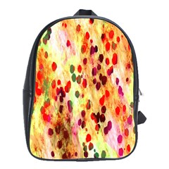 Background Color Pattern Abstract School Bags(Large)