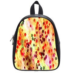 Background Color Pattern Abstract School Bags (small)