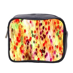 Background Color Pattern Abstract Mini Toiletries Bag 2-Side