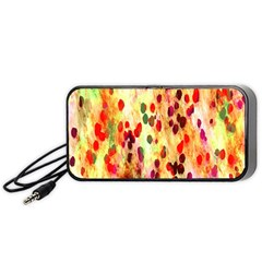 Background Color Pattern Abstract Portable Speaker (black)