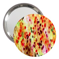 Background Color Pattern Abstract 3  Handbag Mirrors