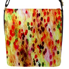 Background Color Pattern Abstract Flap Messenger Bag (S)