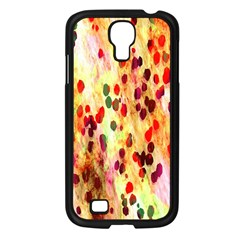 Background Color Pattern Abstract Samsung Galaxy S4 I9500/ I9505 Case (Black)