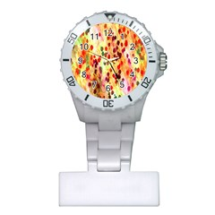 Background Color Pattern Abstract Plastic Nurses Watch