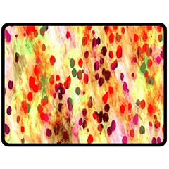 Background Color Pattern Abstract Double Sided Fleece Blanket (Large)