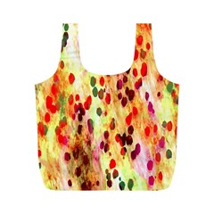 Background Color Pattern Abstract Full Print Recycle Bags (M)