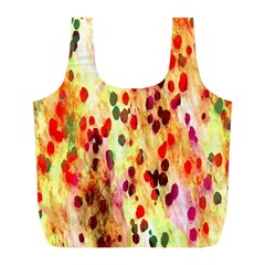 Background Color Pattern Abstract Full Print Recycle Bags (L)