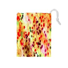 Background Color Pattern Abstract Drawstring Pouches (Medium)