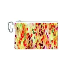 Background Color Pattern Abstract Canvas Cosmetic Bag (S)