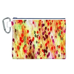 Background Color Pattern Abstract Canvas Cosmetic Bag (L)