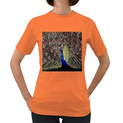 Multi Colored Peacock Women s Dark T-Shirt