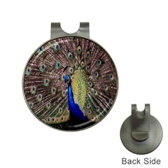 Multi Colored Peacock Hat Clips With Golf Markers
