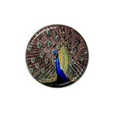 Multi Colored Peacock Hat Clip Ball Marker (10 pack)