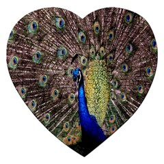 Multi Colored Peacock Jigsaw Puzzle (heart)