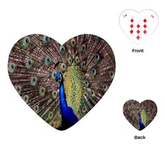 Multi Colored Peacock Playing Cards (Heart)