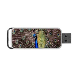 Multi Colored Peacock Portable USB Flash (Two Sides)