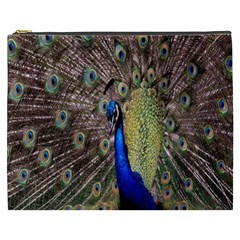 Multi Colored Peacock Cosmetic Bag (XXXL)