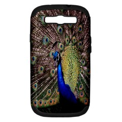 Multi Colored Peacock Samsung Galaxy S III Hardshell Case (PC+Silicone)
