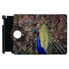 Multi Colored Peacock Apple iPad 2 Flip 360 Case