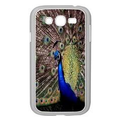 Multi Colored Peacock Samsung Galaxy Grand DUOS I9082 Case (White)
