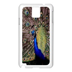 Multi Colored Peacock Samsung Galaxy Note 3 N9005 Case (White)