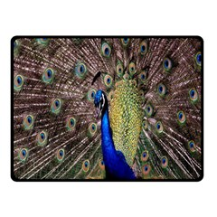 Multi Colored Peacock Double Sided Fleece Blanket (Small)