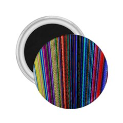 Multi Colored Lines 2.25  Magnets