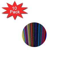 Multi Colored Lines 1  Mini Buttons (10 pack)