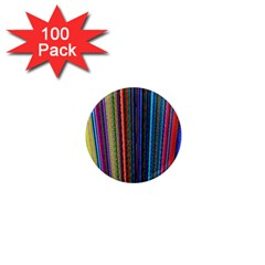Multi Colored Lines 1  Mini Magnets (100 pack)