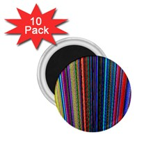 Multi Colored Lines 1.75  Magnets (10 pack)