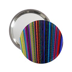 Multi Colored Lines 2.25  Handbag Mirrors